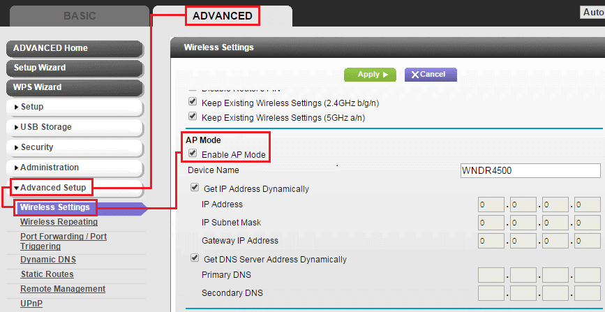 NETGEAR AX 5400 ROUTER AP MODE